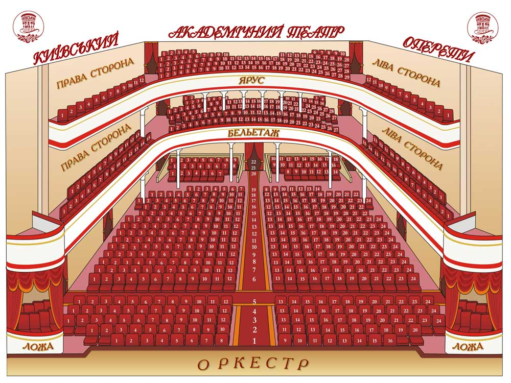 3d схемы залов театров