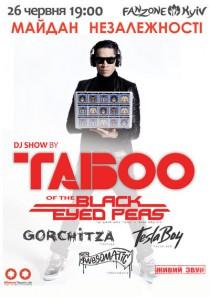 DJ SHOW by TABOO of the Black Eyed Peas (официальная фан зона Евро-2012)