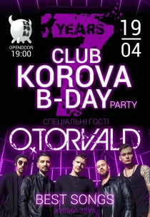 KOROVA B-DAY PARTY with special guest O.TORVALD