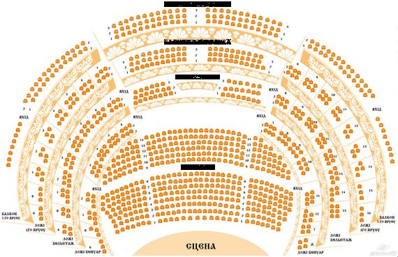 пушкина харьков схема зала